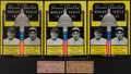 Baseball Collectibles:Tickets, 1933 World Series Programs (3) and Two Ticket Stubs....