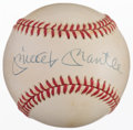 Baseball Collectibles:Balls, Mickey Mantle Single Signed Upper Deck Authenticated Baseball....