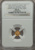 Alaska Tokens, 1901 Indian Head Left, Round, Quarter Pinch, MS64 NGC. Gould-Bressett 129. Hart's Coins of the West....