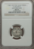 Civil War Patriotics, Undated Washington - Not One Cent MS65 NGC. Fuld-105/359e. Thereverse die is misaligned toward 3:30....