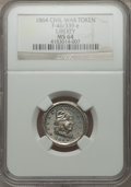 Civil War Patriotics, 1864 Liberty Head, Shield, MS64 NGC. Fuld-46/339e....