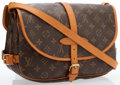 Luxury Accessories:Bags, Louis Vuitton Classic Monogram Canvas Saumur MM Messenger Bag. ...