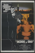 "Movie Posters:James Bond, Goldfinger (United Artists, R-1970s). Argentinean Poster (29"" X43""). James Bond. ..."