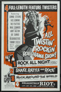 "Movie Posters:Cult Classic, All Twistin' Rockin' Rollorama Show (American International,R-1961). One Sheet (27"" X 41""). Cult Classic. ..."