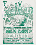Music Memorabilia:Posters, Procol Harum Earth Concert Poster (c. 1971). San Diego's Earth Clubwas the site for this concert, featuring English Prog-R... (Total:1 Item)