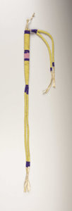 American Indian Art:Beadwork, A NORTHERN PLAINS BEADED HIDE AWL CASE. . c.1890...