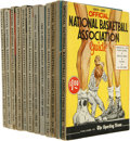 Basketball Collectibles:Others, 1958-70 Official NBA Guides Lot of 12. A run of one dozen officialNBA guides are here from each year between 1958 and 1970...
