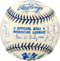 Autographs:Baseballs, 1998-99 World Series Signed Baseball . Members of both the 1998 and1999 New York Yankee World Series Championship Teams ad...