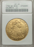 Colombia, Colombia: Charles IV gold 8 Escudos 1798 NR-JJ XF45 ANACS,...