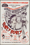 "Movie Posters:Sexploitation, Hurly Burly (Cinetech, 1950). One Sheet (27"" X 41"").Sexploitation.. ..."