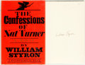 Books:Literature 1900-up, William Styron. SIGNED. The Confessions of Nat Turner. NewYork: Random House, 1967. First edition. Signed by...
