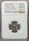 Ancients:Roman Imperial, Ancients: Vespasian (AD 69-79). AR denarius (3.49 gm)....