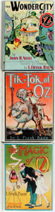 Books:Science Fiction & Fantasy, L. Frank Baum. Three Titles in the Oz Series. Includes one firstedition (The Wonder City of Oz) and two reprints with d...(Total: 3 Items)