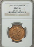 British Honduras, British Honduras: British Colony. Edward VII Cent 1904 MS65 Red and Brown NGC,...