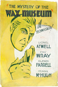 "Movie Posters:Horror, The Mystery of the Wax Museum (Warner Brothers, 1933). LocallyProduced Artwork (27.5"" X 40.5"").. ..."