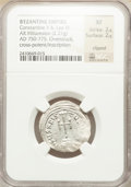 Ancients:Byzantine, Ancients: Leo IV, with Constantine V (AD 775-780). AR miliaresion(2.21 gm)....