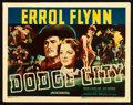 "Movie Posters:Western, Dodge City (Warner Brothers, 1939). Title Lobby Card (11"" X 14"")....."