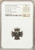 Ancients:Greek, Ancients: CARIAN SATRAPS. Maussollus (377-353 BC). AR drachm (3.67gm)....