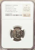 Ancients:Greek, Ancients: THESSALY. Larissa. Ca. 356-342 BC. AR drachm (6.08gm)....
