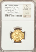 Ancients:Byzantine, Ancients: Justinian I the Great (AD 527-565). AV solidus (4.39gm)....