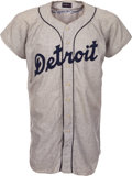 Baseball Collectibles:Uniforms, 1958 Gus Zernial Game Worn Detroit Tigers Jersey....