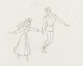 Animation Art:Production Drawing, Sleeping Beauty Briar Rose and Price Phillip ProductionDrawing Animation Art (Walt Disney, 1959)....