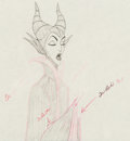 Animation Art:Color Model, Sleeping Beauty Maleficent Color Model Animation Art (Walt Disney, 1959)....