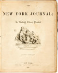 Books:Literature Pre-1900, Edgar Allan Poe, Charles Dickens, et al. Bound New York JournalAn Illustrated Literary Periodical, Volume I, Augu...