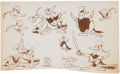 animation art:Model Sheet, Donald Duck Model Sheet Group (Walt Disney, 1930-1940).... (Total:8 Items)