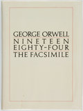Books:Literature 1900-up, George Orwell. Nineteen Eighty-Four. A facsimile extantmanuscript. Edited by Peter Davison. Harcourt Brace Jovanovi...