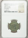 Ancients:Roman Provincial , Ancients: MACEDON. Thessalonica. Augustus, with Tiberius (27 BC-AD14). Æ 21mm (9.63 gm)....