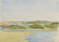 Works on Paper, CHARLES STUART FORBES (American, 1860-1926). Estuary. Watercolor on paper. 9-7/8 x 13-7/8 inches (25.1 x 35.2 cm) (sheet...