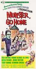 "Movie Posters:Comedy, Munster, Go Home (Universal, 1966). Three Sheet (41.75"" X 79"").. ..."