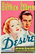 "Movie Posters:Romance, Desire (Paramount, 1936). One Sheet (27"" X 41"") Style A.. ..."