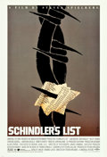 "Movie Posters:Drama, Schindler's List by Saul Bass (Universal, 1993). Alternate OneSheet (27"" X 41"").. ..."