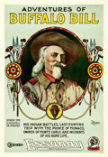 "Movie Posters:Documentary, Adventures of Buffalo Bill (Essanay, 1917). One Sheet (27"" X 41"").. ..."