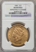 Liberty Double Eagles, 1880 $20 -- Improperly Cleaned -- NGC Details. AU. NGC Census: (23/290). PCGS Population (110/191). Mintage: 51,456. Numism...