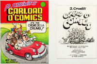 Robert Crumb Carload O' Comics Cover and Title Page Original Art (Belier Press, 1976)