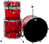 1977/1978 Ludwig Vistalite Red Drum Set