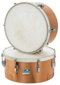 Musical Instruments:Drums & Percussion, 1971 Ludwig Copper Timbales, Serial #s 809450 and 809539. ...