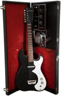 Musical Instruments:Electric Guitars, 1965 Silvertone 1448 Amp-in-Case Black Solid Body Electric Guitar,#18510010....