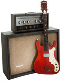 Musical Instruments:Amplifiers, PA, & Effects, 1962 Silvertone 1483 Grey Guitar Amplifier and 1962 SilvertoneModel 1410 Solid Body Electric Guitar, #18511030....