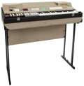 Musical Instruments:Keyboards & Pianos, 1968 Farfisa Compact Deluxe Grey Keyboard, #127/311....