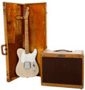 Musical Instruments:Electric Guitars, 1958 Fender Esquire Blonde Solid Body Electric Guitar & 1957 Fender Vibrolux Tweed Guitar Amplifier, #026374 and #F00355.... (Total: 2 Items)