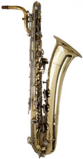 Musical Instruments:Horns & Wind Instruments, 1980's Selmer USA Brass Baritone Saxophone, #1232076....