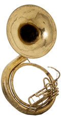 Musical Instruments:Horns & Wind Instruments, 1965 C.G. Conn 10K Brass Sousaphone, #H11761....