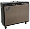 Musical Instruments:Amplifiers, PA, & Effects, 1966 Fender Twin Reverb Black Guitar Amplifier, #A04619....