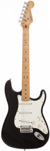 Musical Instruments:Electric Guitars, 1991 Fender Stratocaster Black Solid Body Electric Guitar, Serial # N1015910....