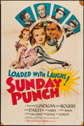 "Movie Posters:Sports, Sunday Punch (MGM, 1942). One Sheet (27"" X 41""). Sports.. ..."