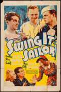 """Movie Posters:Comedy, Swing It, Sailor (Grand National, 1938). One Sheet (27"""" X 41""""). Comedy.. ..."""